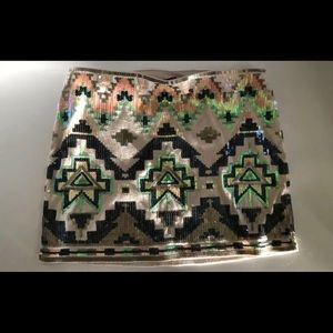 Express sequin stretch skirt size extra small